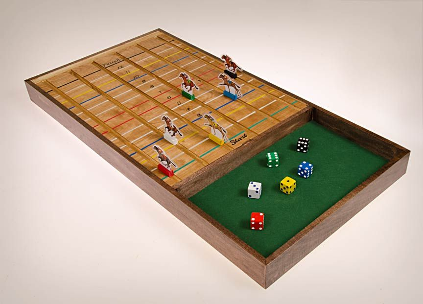 This Time It Was A Game A Game With The Theme Of Horse Racing Magnificent Wooden Horse Racing Game