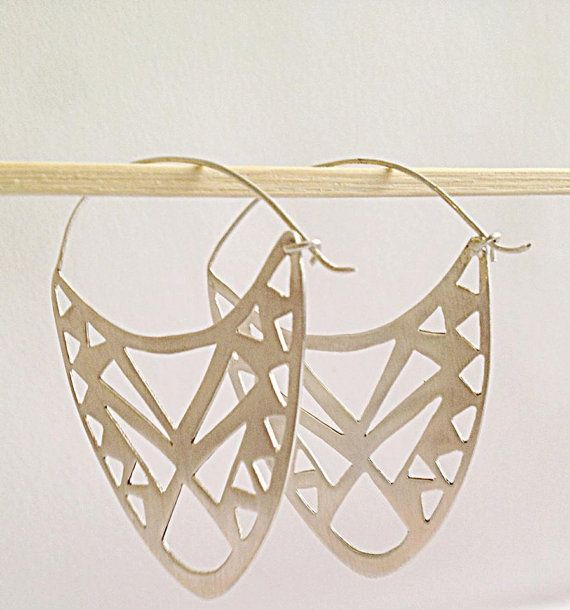 Hand Made# Geometric Silver Earrings # Gift Idea# silver 925