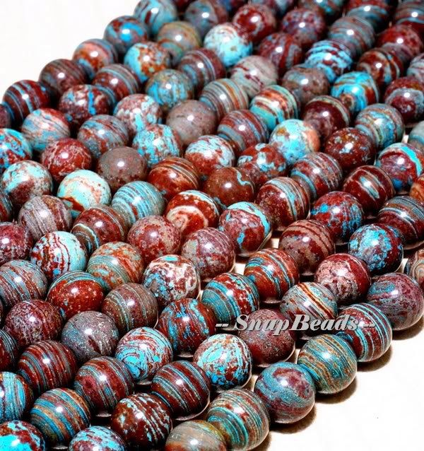 6mm Turquoise Calsilica Gemstone Smooth Round 6mm Loose Beads 15.5 inch Full Strand (10233686-42) by PetiteBeads on Etsy https://www.etsy.com/listing/124043636/6mm-turquoise-calsilica-gemstone-smooth