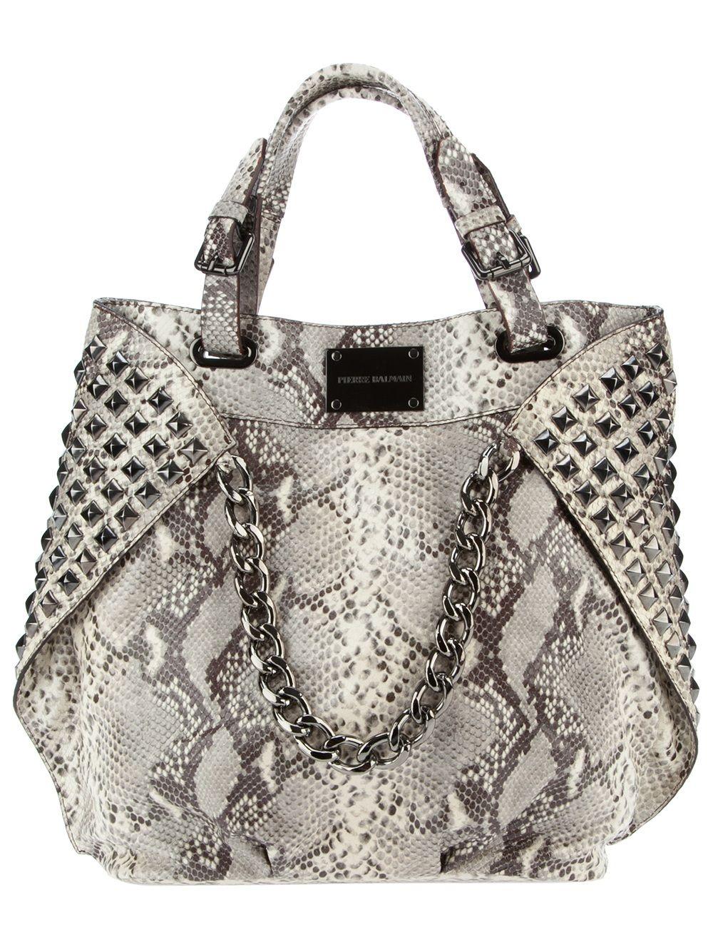 27be86af91 Pierre Balmain studded snakeskin bag | Get in my closet | Bags ...