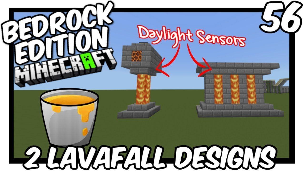 23 Daylight Sensor Lavafall Designs Bedrock Edition  Minecraft