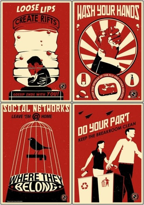 Propaganda Posters For The Modern Office Propaganda Posters Propaganda Art Propaganda