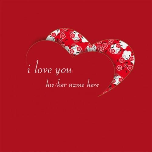 Write Lover Name On Beautiful I Love You Red Heart Images Red Heart