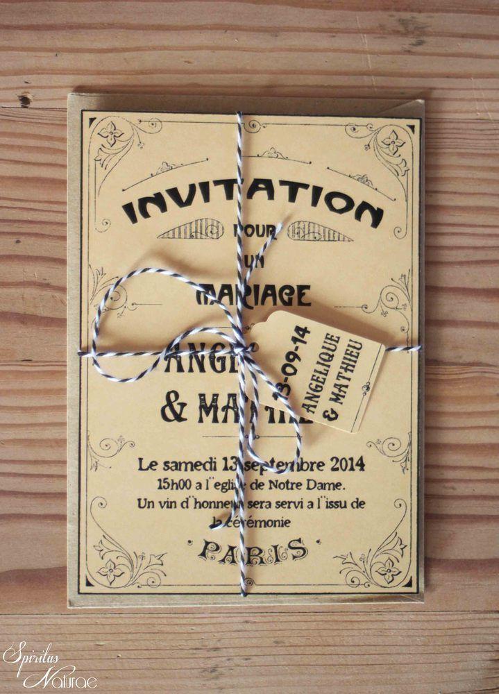 Image Of Faire Part Les Annees Folles Parisienne Faire Part Mariage Faire Part Retro Faire Part Mariage Vintage
