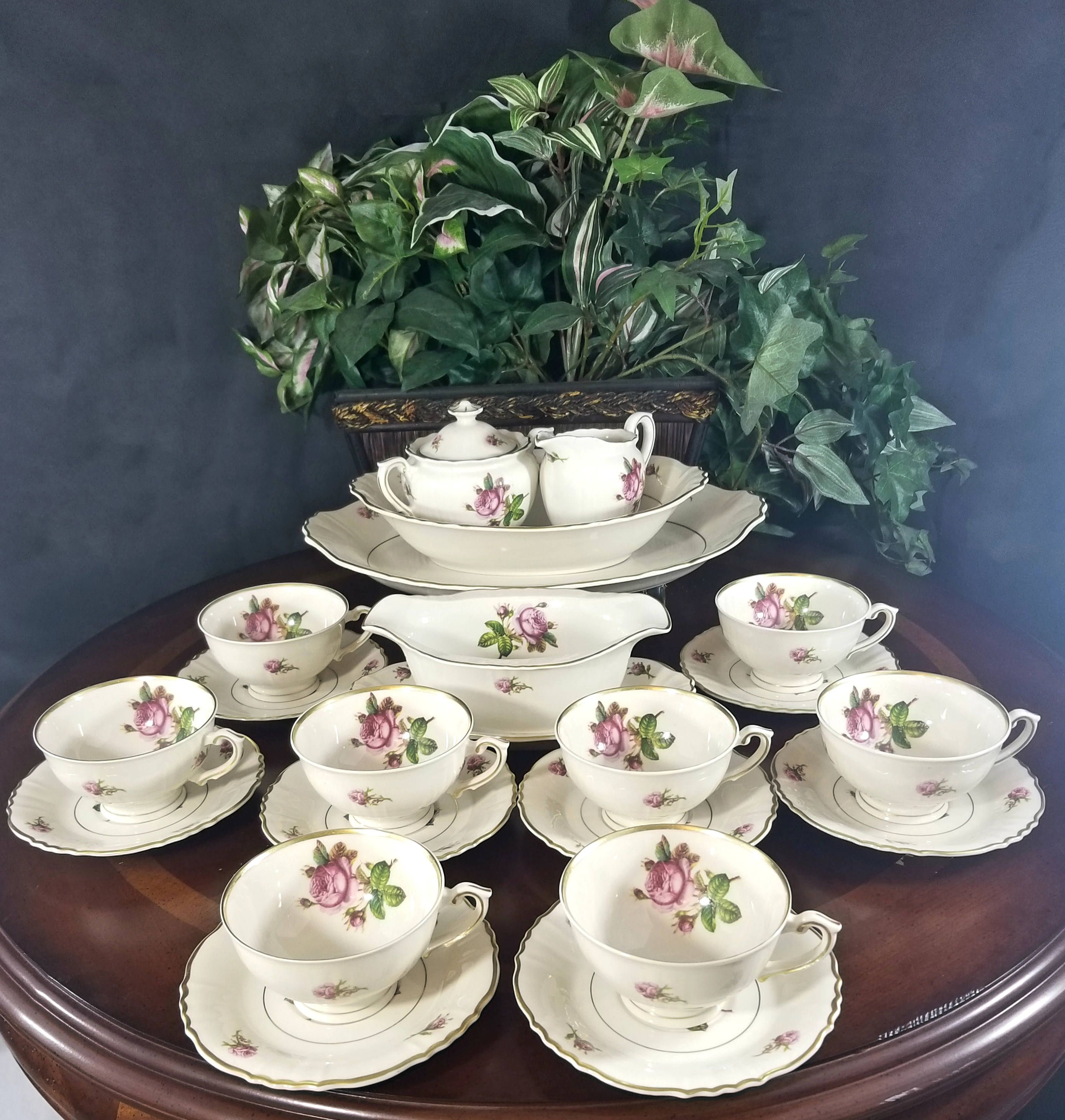 Tea Party For 8 Federal Shape Syracuse Victoria 22 Piece