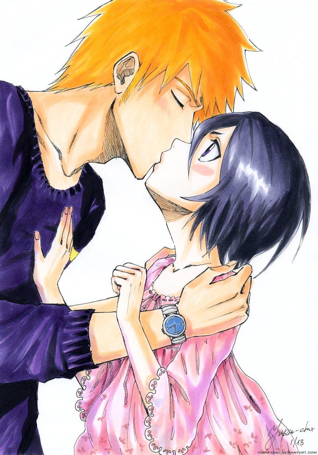 Kisses   Ichigo and rukia, Bleach anime, Bleach ichigo and rukia