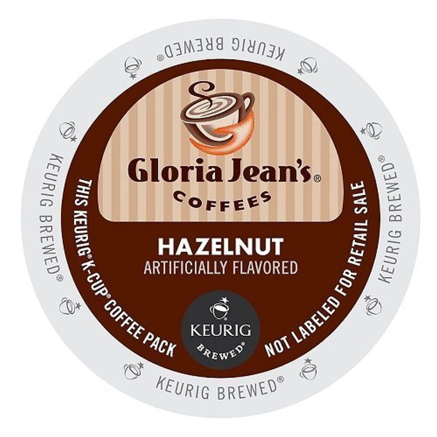 Gloria jeans coffee hazelnut kcup portion pack for
