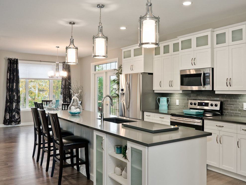 Dvi Lighting Kitchen Transitional With Black Bar Stools Glass