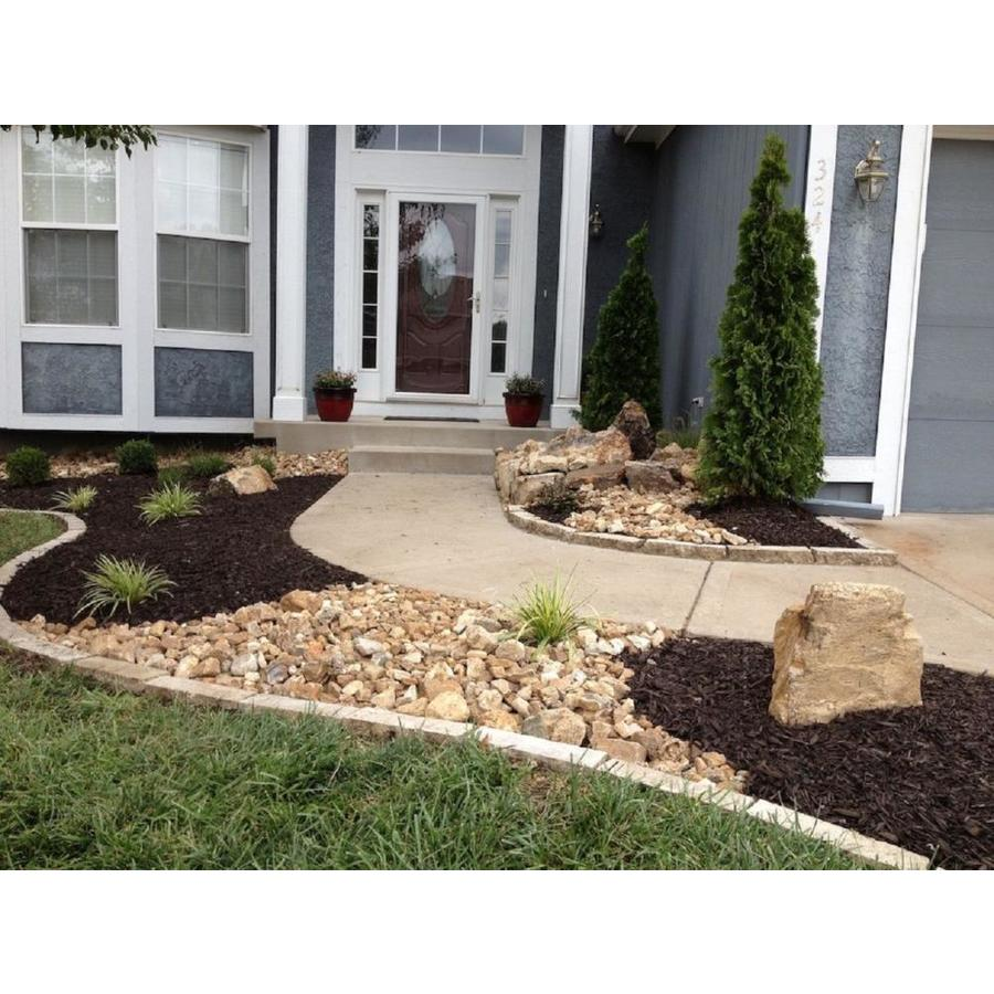 Rain Forest 30 Lb Off White River Pebbles At Lowes Com Front Yard Landscaping River Rock Landscaping Mulch Landscaping