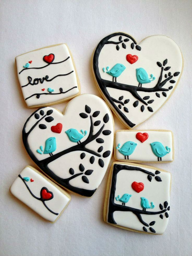 53 lovely decoration ideas for valentines cookies - Decorated Valentine Cookies