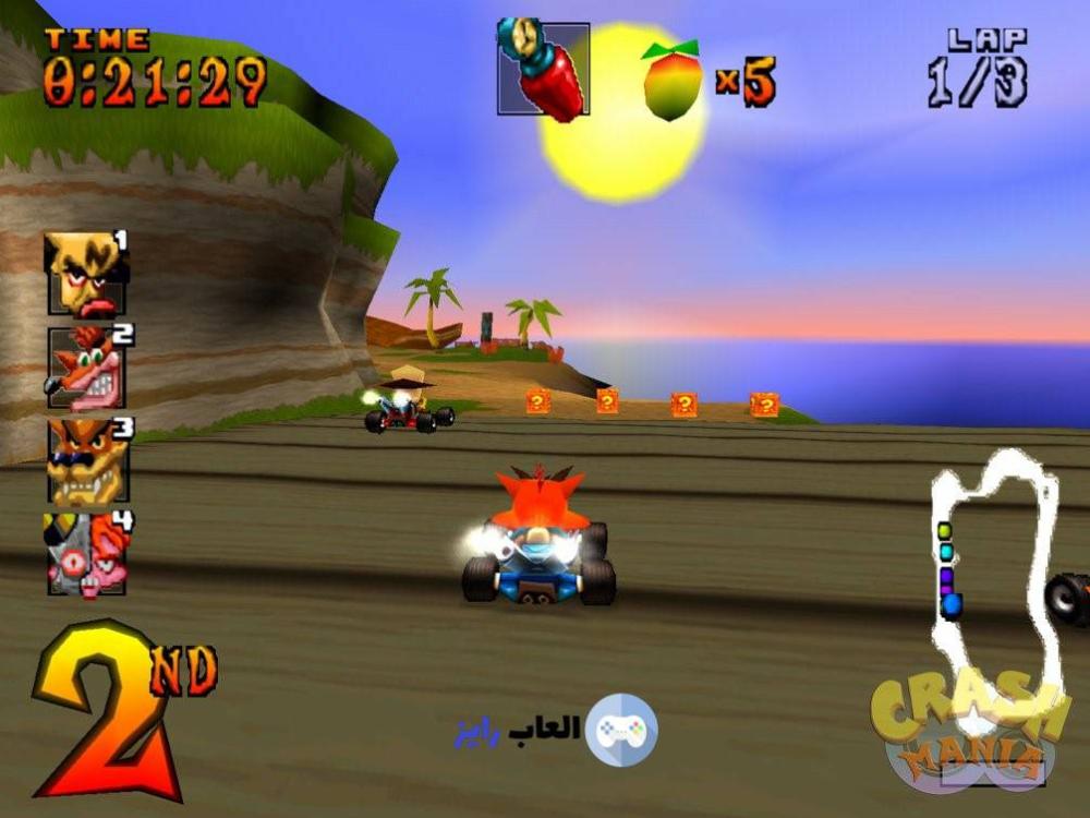 تنزيل لعبة كراش القديمة الاصلية العاب سيارات سباق كراش Crash Team Racing 1 العاب رايز Crash Team Racing Game Cheats Games