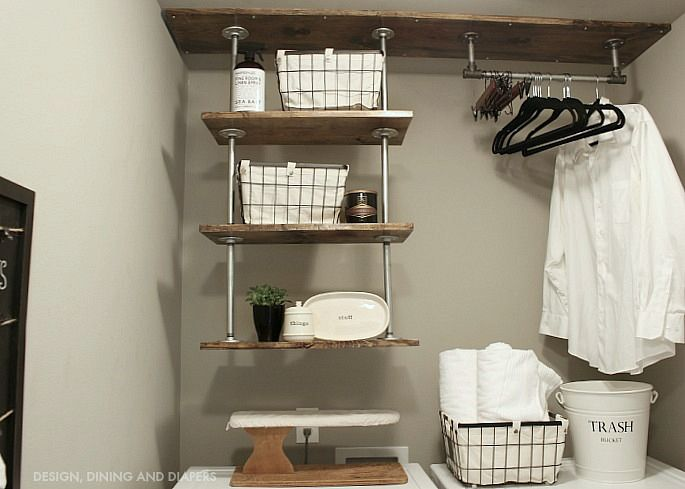 Industrial Laundry Room Shelving For A Small
