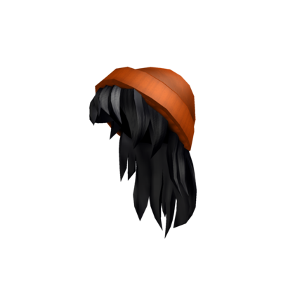 Customize Your Avatar With The Orange Beanie With Black Hair And Millions Of Other Items Mix Match This Hair Acce In 2020 Orange Beanie Black Hair Roblox Black Hair