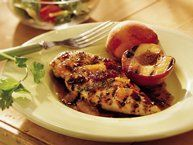 Grilled Chicken with Raspberry Chipotle Glaze recipe from Betty Crocker