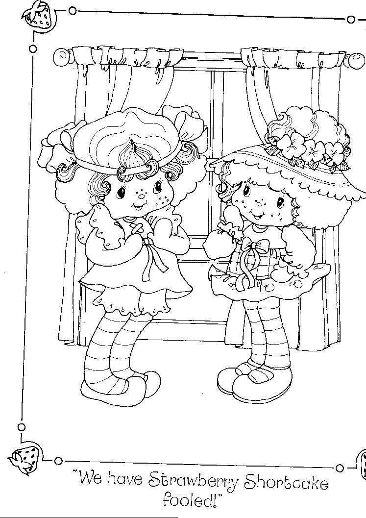 Strawberry Shortcake\'s Birthday Party Colouring Book | strawberry ...