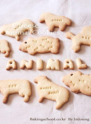 Animal shaped cookie cheesy