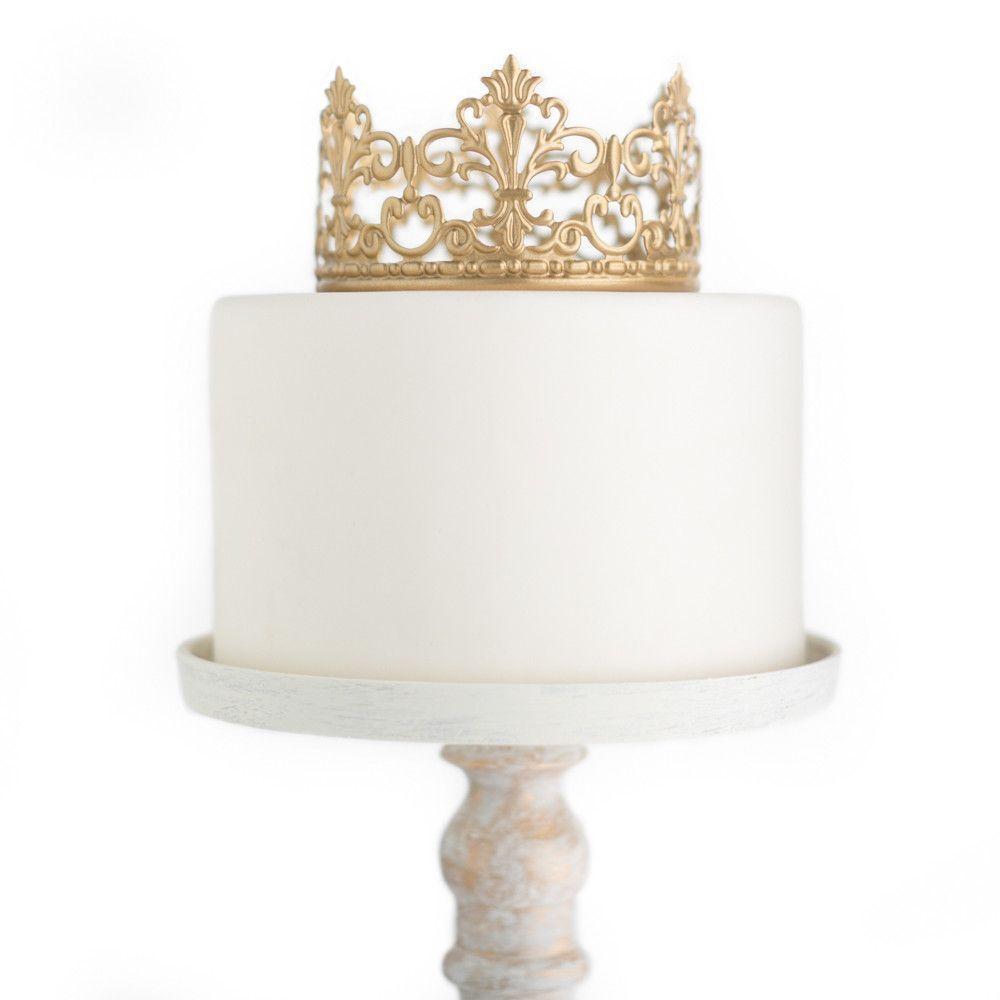 Gold Crown Cake Topper ~ Jane   Pinterest   Crown cake, Gold crown ...