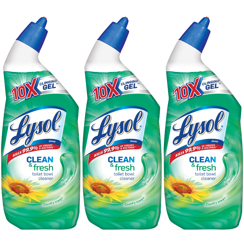 Lysol Clean Fresh Toilet Bowl Cleaner Country Scent 72oz 3x24oz Walmart Com In 2020 Toilet Bowl Cleaner Toilet Bowl Lysol