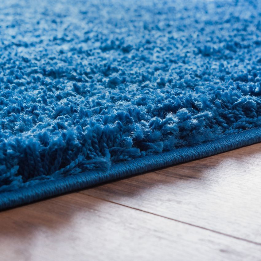 Plain Dark Blue Modern Solid Rug Solid Rugs Rugs Well Woven