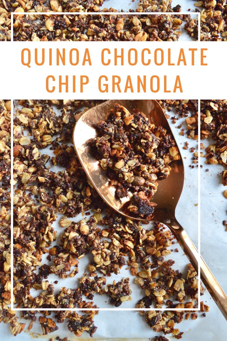 Chocolate chip cookie granola granola chip cookies and quinoa chocolate chip cookie granola homemade cerealchocolate ccuart Choice Image