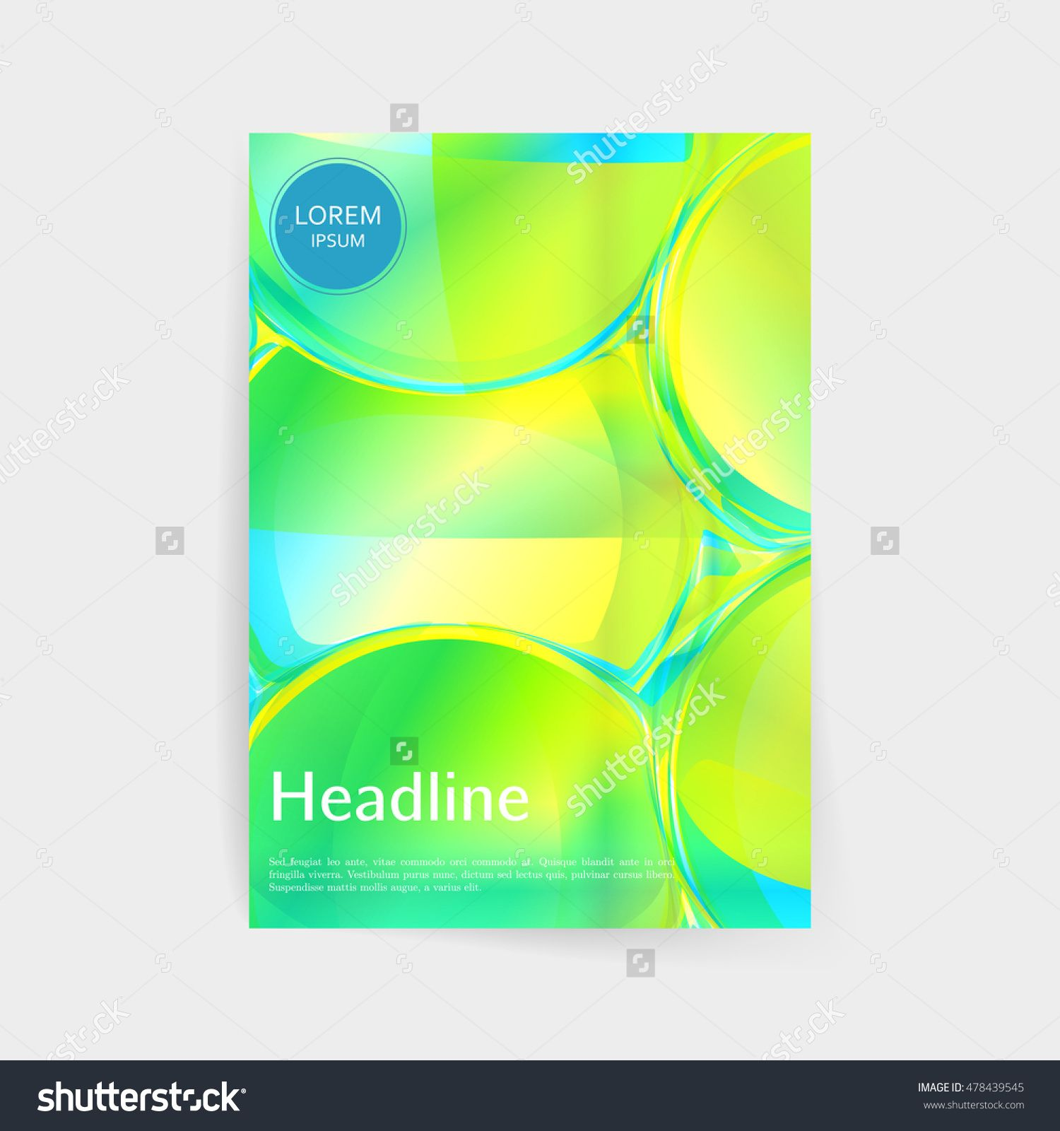 Luminous Glass Abstract Vector Design For Cover Poster Banner