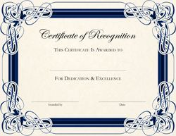 Certificates Of Recognition  Officially Recognize Students Who