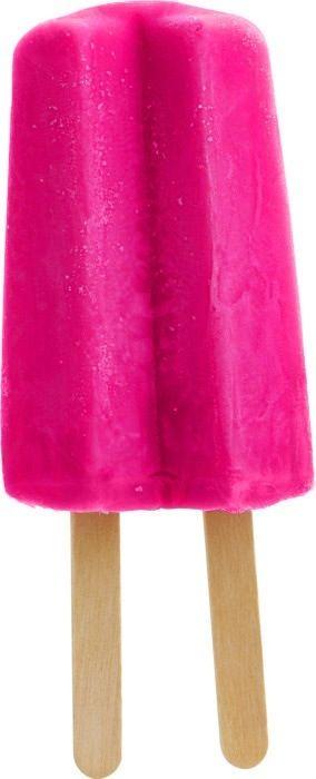 Pink ice pop