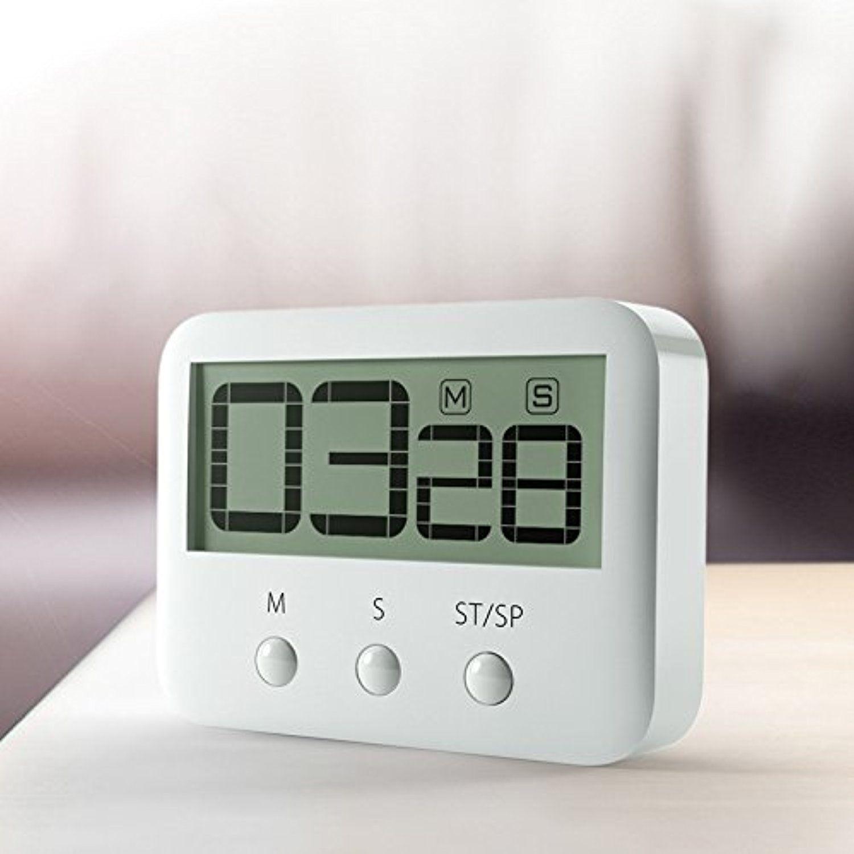 Zhishang Kitchen Timer Big Digital Loud Alarm Magnetic Back Timer ...