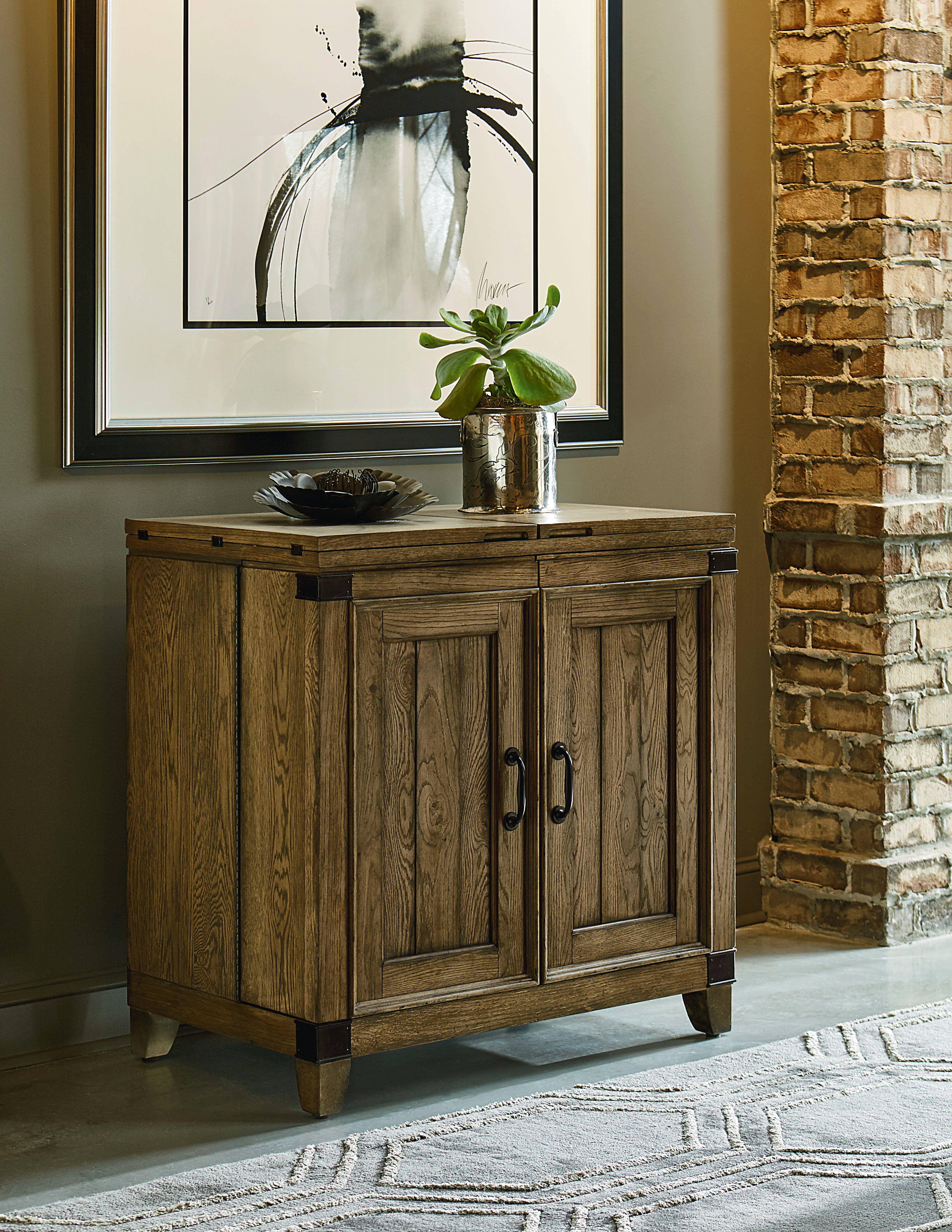 Metalworks Chic Hardwood Solid Two Doors Bar Cabinet