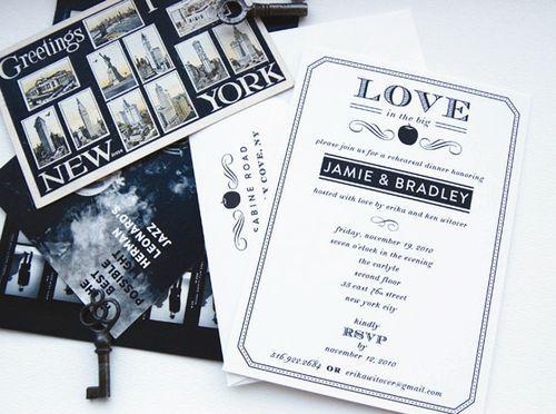 Swiss Cottage New York Themed Invites
