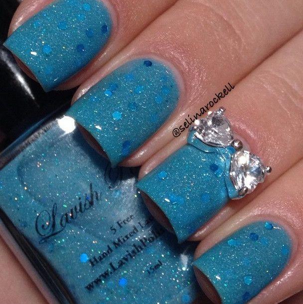 Luxury Rhinestone Bow Nail Charm | Nail charms, Rhinestone nails and ...