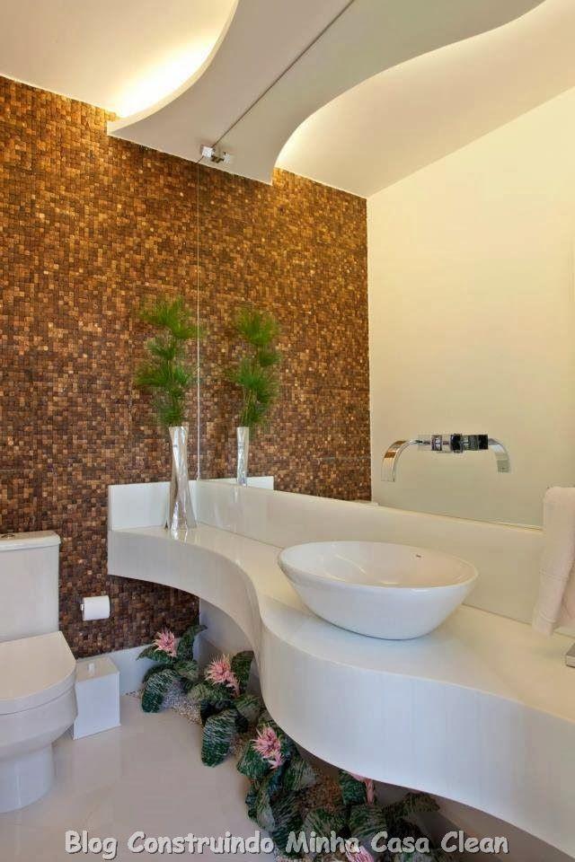 30 dicas de banheiros e lavabos decorados e modernos for Fotos de banos decorados