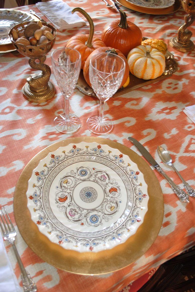 Thanksgiving Ikat Table