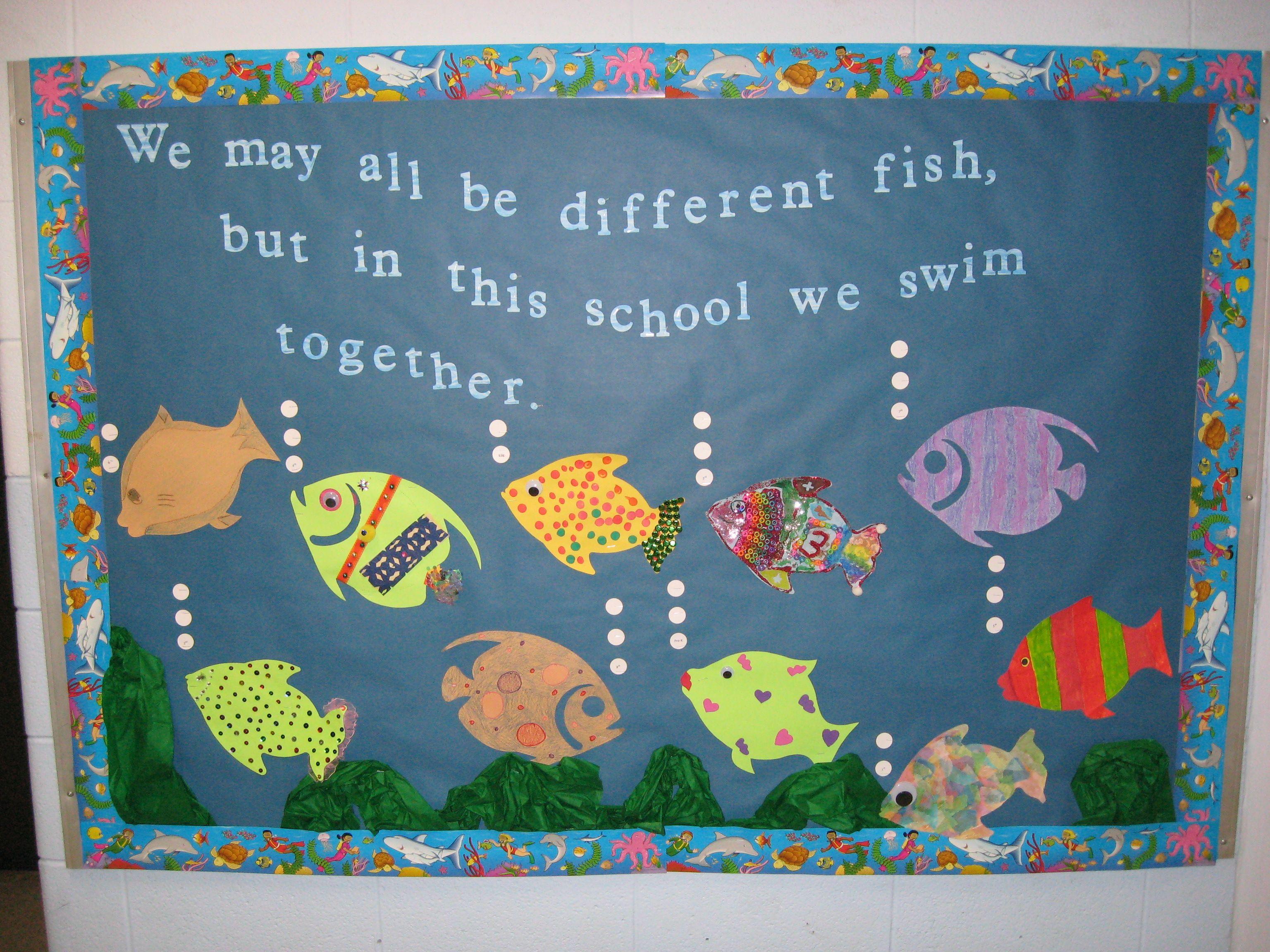 We Swim Together Classroom School Bulletin Boards