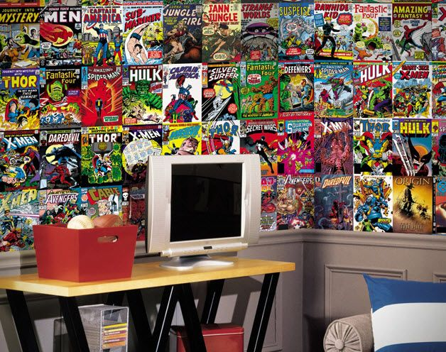 Marvel Comics Mural Wall Graphic For The Boys Comic Book Room Part 75