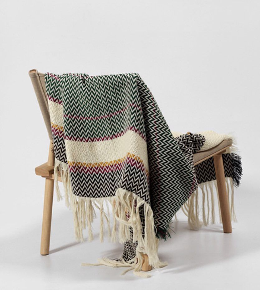 The Sunnmøre Bunad Blanket by Fram Oslo in 100% Pure New Wool #blanketsweater