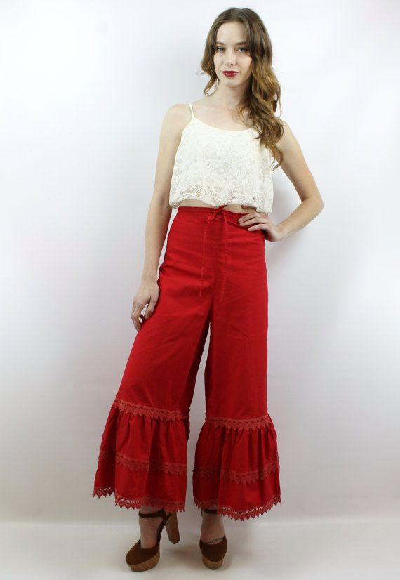 aea862c54c5e1 Plus Size Vintage 70s High Waisted Hippie Bell Bottoms Festival Pants