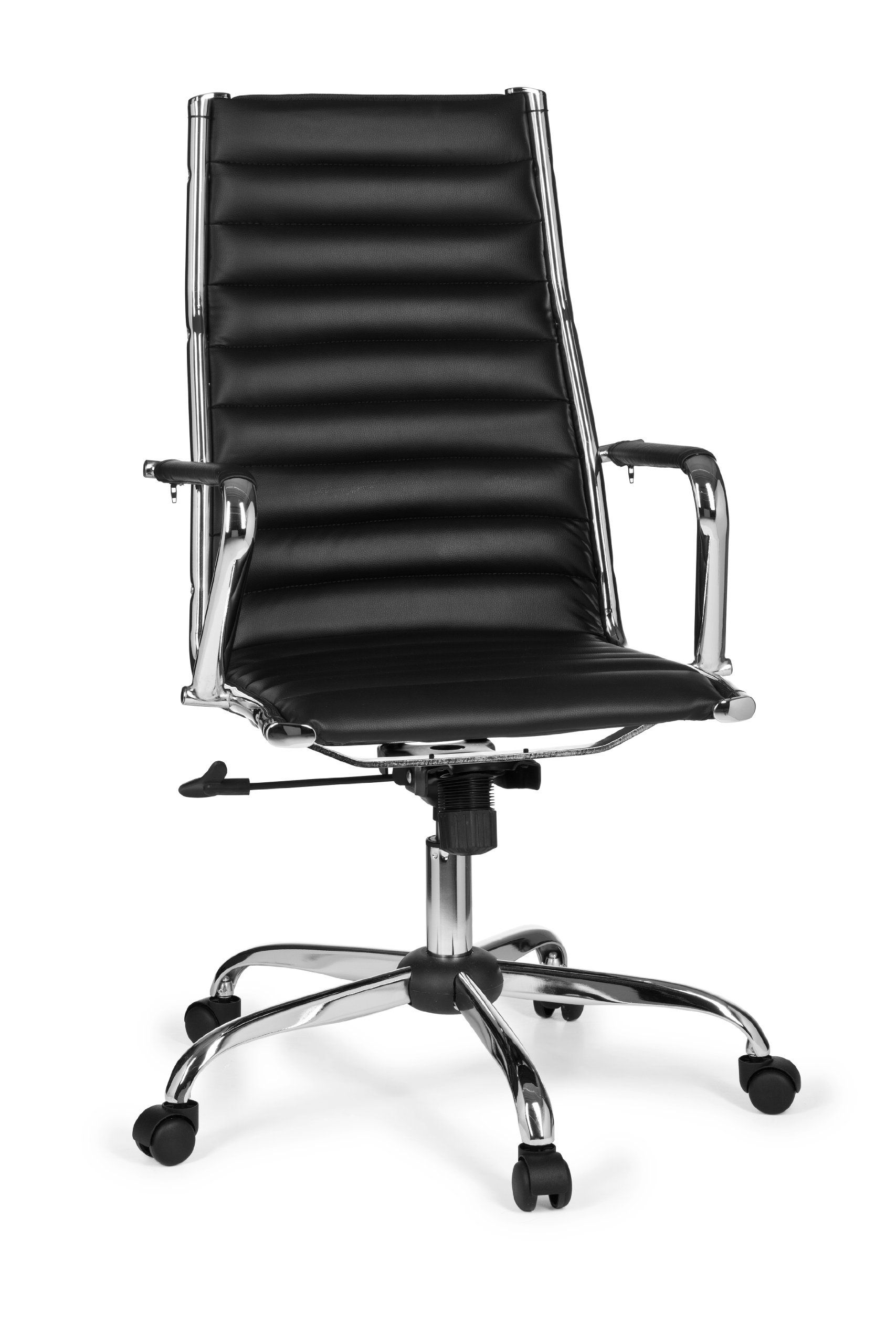 Amstyle Design Klassiker Chefsessel Genf 1, Bürostuhl schwarz