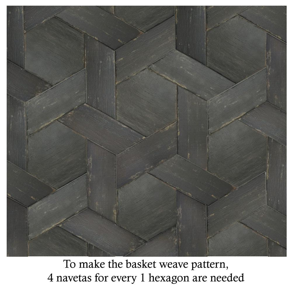 Merola Tile Retro Hex Nero 14 1 8 In X 16 1 4 In Porcelain Floor And Wall Tile 11 05 Sq Ft Case Fnurtxng The Home Depot Flooring Porcelain Flooring Tile Floor