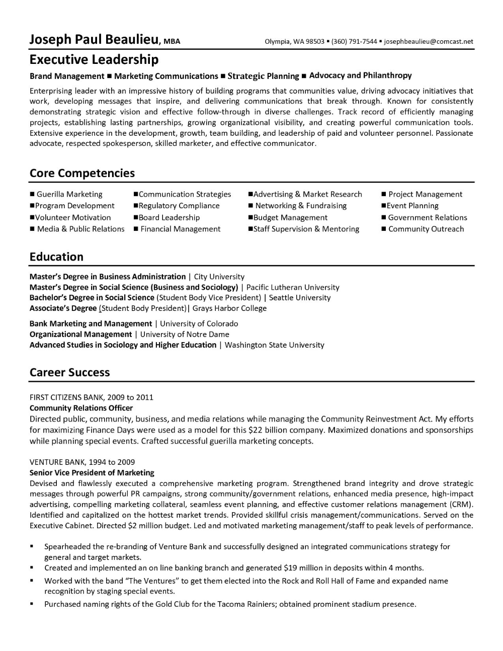 Resume Templates Notre Dame 4 Professional Templates Resume Examples Executive Resume Template Resume Template Examples