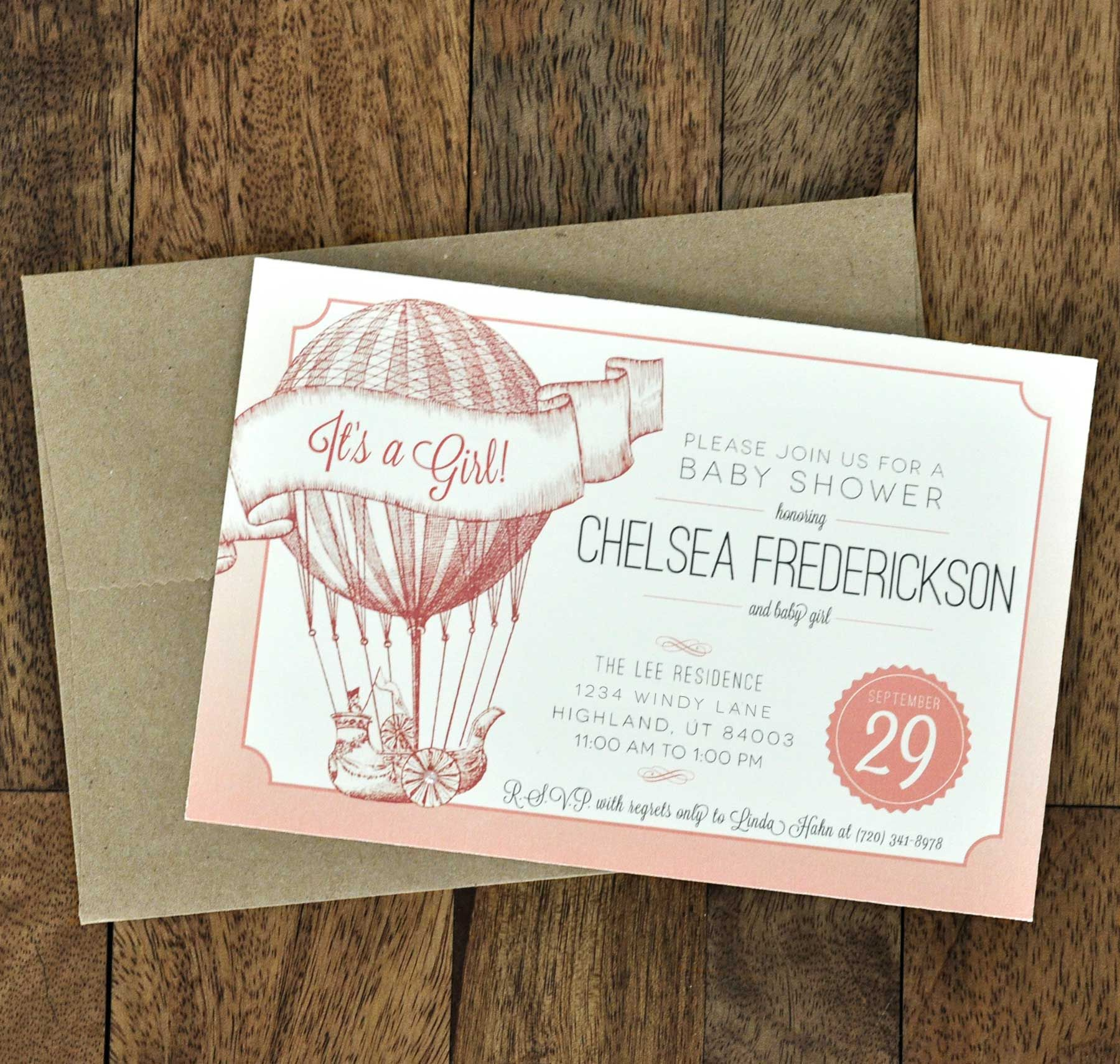 baby shower invitation vintage look - Google Search | Stationary ...