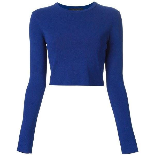 0f7554d42d Proenza Schouler Cropped Jumper ( 379) ❤ liked on Polyvore featuring tops