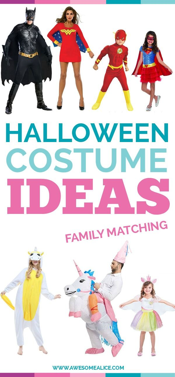 Fun And Unique Family Matching Costume Ideas For Halloween - halloween costumes ideas