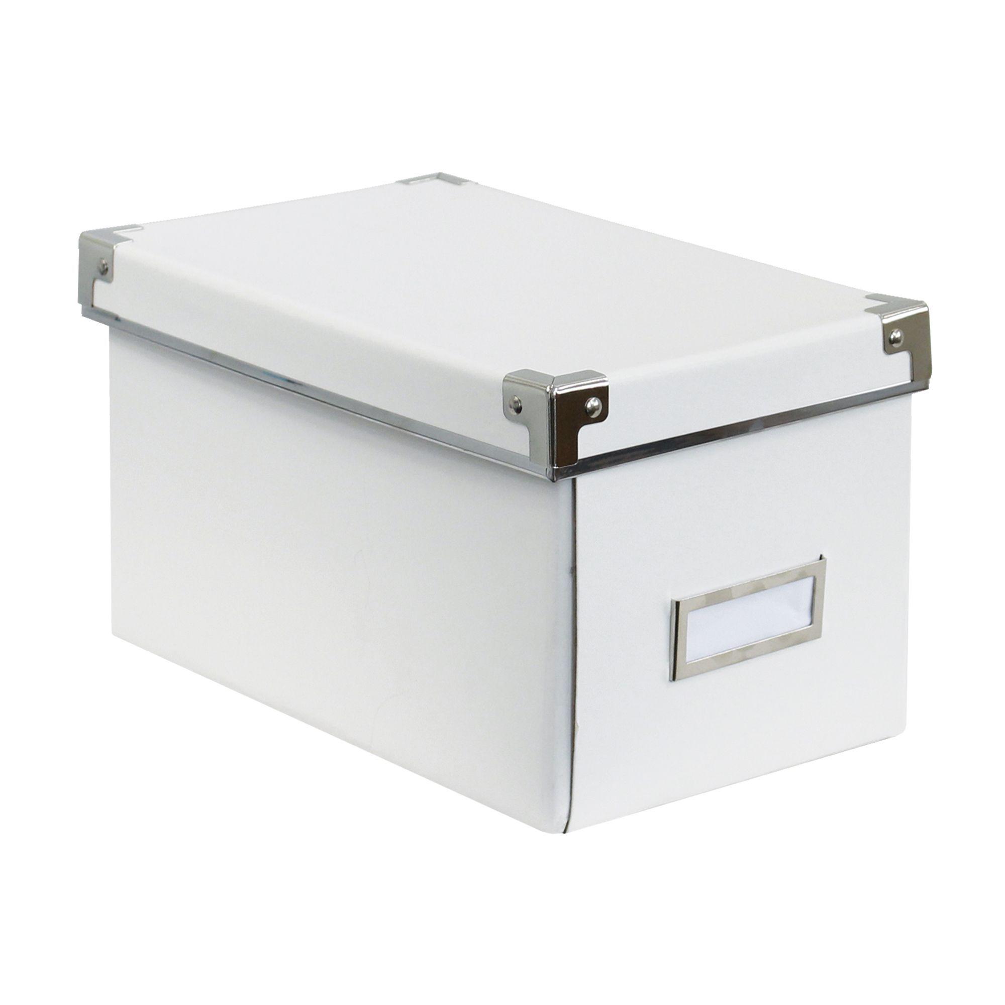 lot de 2 boites pour cd blanc kasset les boites en. Black Bedroom Furniture Sets. Home Design Ideas