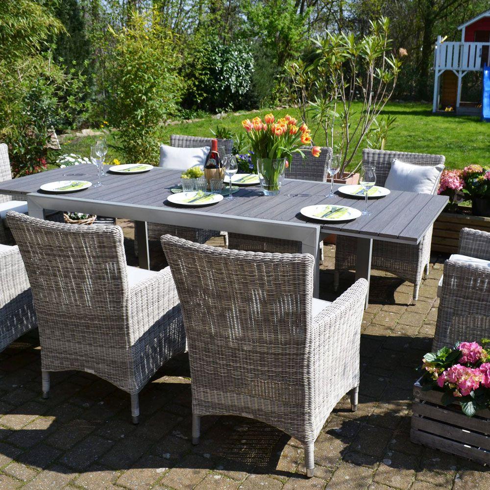 Essgruppe Neapel Tisch Verlängerbar 170255x100cm 8