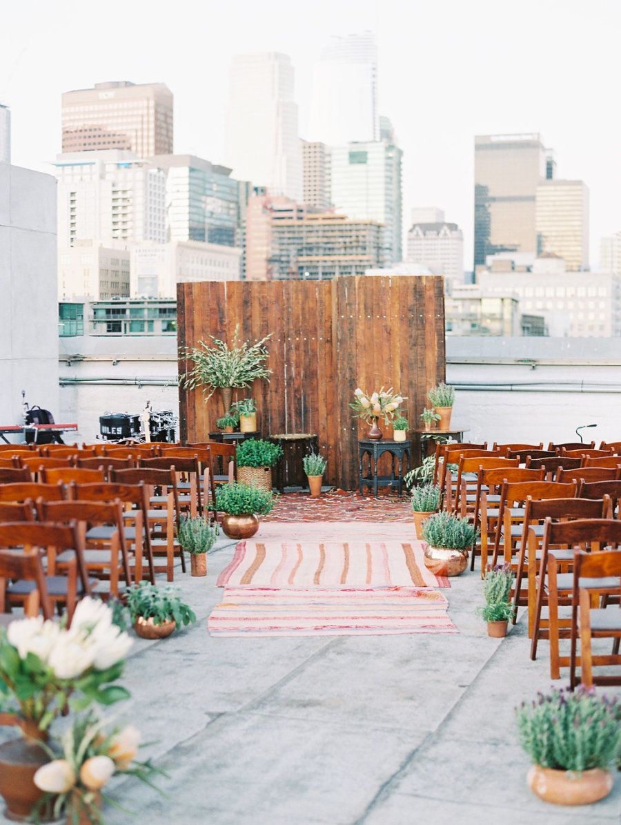 Rooftop Celebration In The Heart Of Downtown Los Angeles Wedding Venue