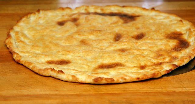 Gluten free crust...not gf myself, but this crust looks really thin and crispy, like i like it!
