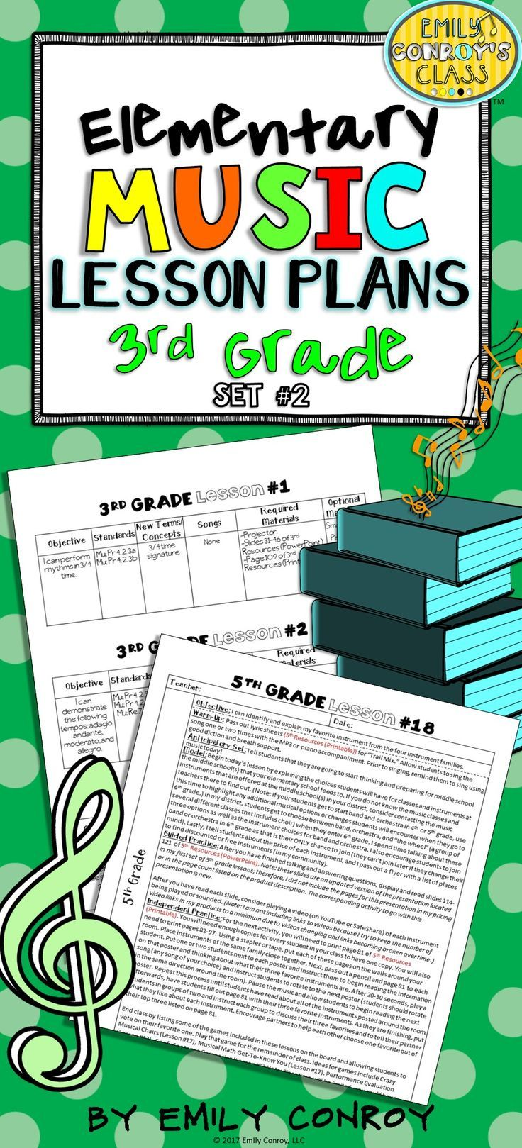 3rd Grade Music Lesson Plans (Set #2) | Worksheets, Activities and ...