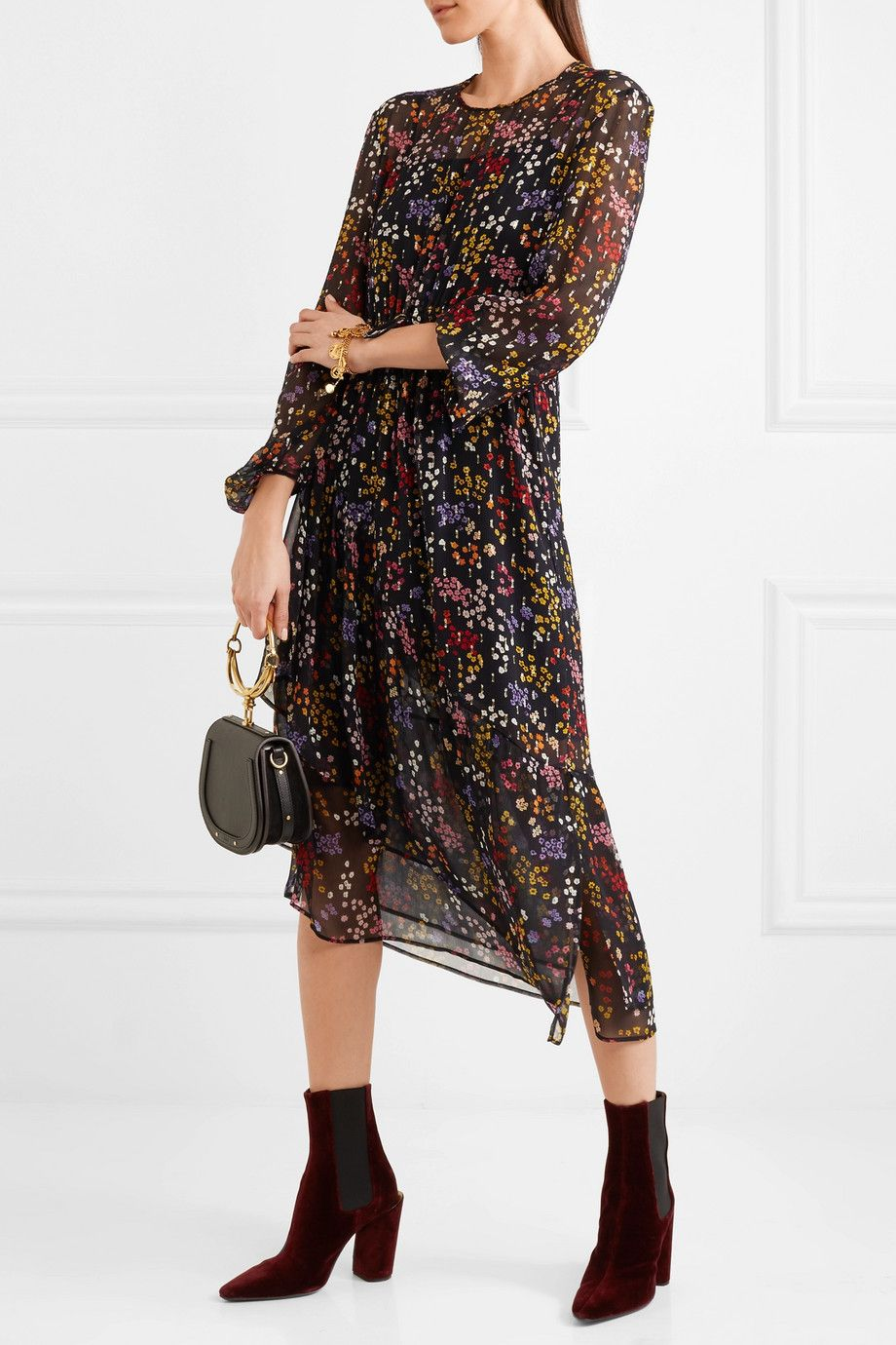 074921d74df14 See by Chloé | Floral-print fil coupé silk-georgette midi dress |  NET-A-PORTER.COM