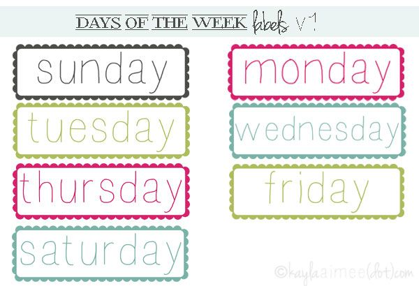 1000+ images about days and months on Pinterest | Morning meetings ...